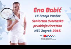Ena Babić osvojila dvostruku krunu prvakinje Hrvatske