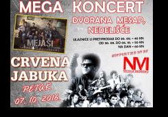 Dođite na veliki koncert Mejaša i Crvene Jabuke na Mesap!