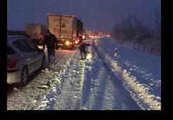 FOTO: Međimurci na samoj autocesti Goričan-Zagreb napravili snjegovića