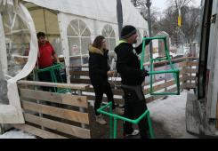 FOTO: Pakiraju se stvari i rastavlja se klizalište u Čakovcu