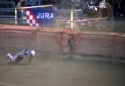Speedway motocikl Kyle Newmana letio zrakom