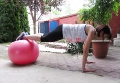 Trening s pilates loptom